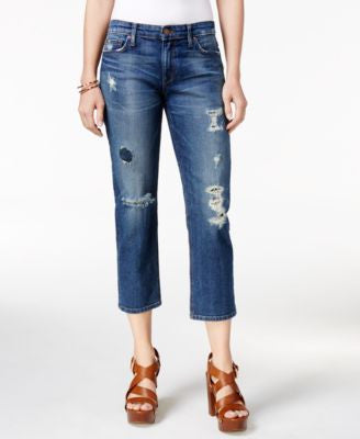 Joe's The Ex-Lovers Ripped Cropped Nicola Wash Jeans