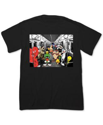 Fifth Sun Men's Looney Tunes Subway Crew T-Shirt