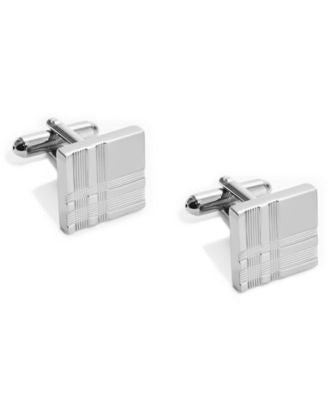 Geoffrey Beene Cufflinks, Polished Black Nickel Square Boxed Set