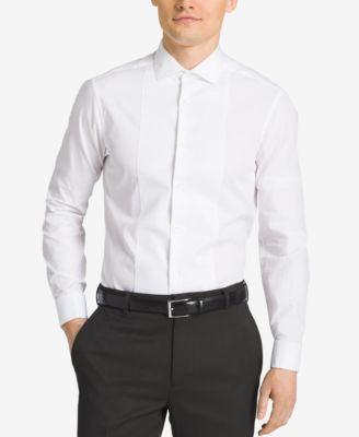 Calvin Klein STEEL Men's Slim-Fit French Cuff Tuxedo Shirt