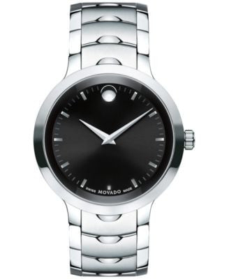 Movado Men's Swiss Luno Stainless Steel Bracelet Watch 40mm 0607041