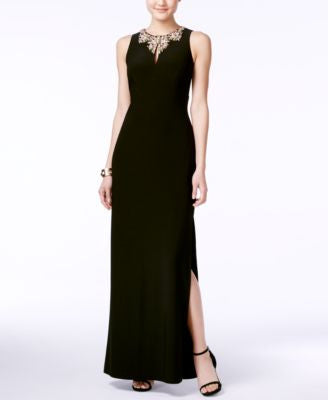 Vince Camuto Embellished Sleeveless Gown