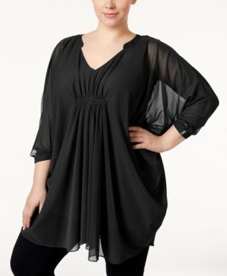 Alfani Plus Size Kurta Tunic, Only at Vogily