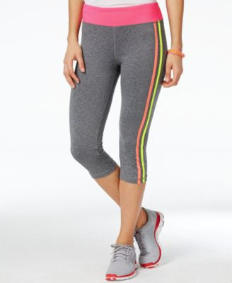 Energie Active Juniors' Paula Striped Cropped Leggings