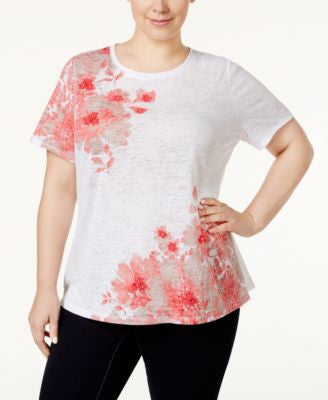 INC International Concepts Plus Size Appliquéd T-Shirt, Only at Vogily
