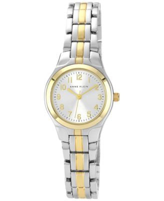 Anne Klein Watch, Women's Two Tone Bracelet 28x26mm 10-5491SVTT