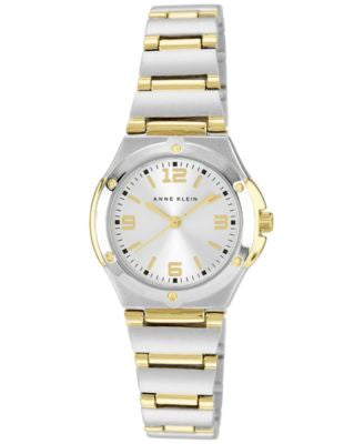 Anne Klein Watch, Women's Two Tone Bracelet 10-8655SVTT
