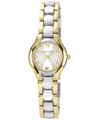 Anne Klein Watch, Women's Two Tone Bracelet 10-6777SVTT