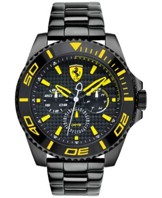 Scuderia Ferrari Men's XX Kers Black Ion-Plated Stainless Steel Bracelet Watch 50mm 830309