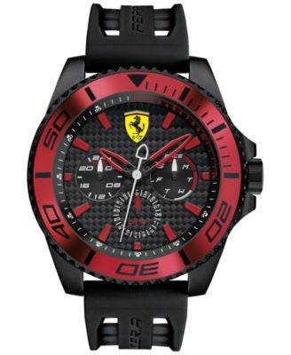 Scuderia Ferrari Men's XX Kers Black Silicone Strap Watch 50mm 0830310