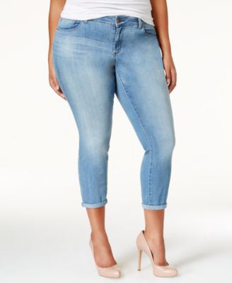 Jessica Simpson Plus Size Minette Wash Cropped Skinny Jeans