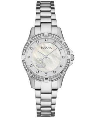 Bulova Women's Stainless Steel Bracelet Watch 30mm 96L226