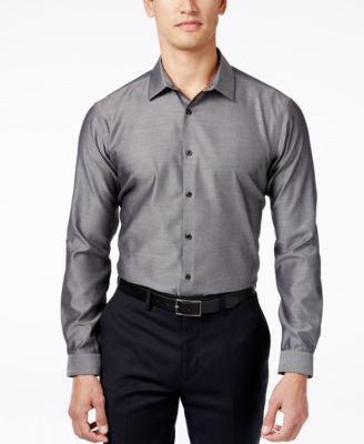INC International Concepts Men's Blake Long-Sleeve Non-Iron Shirt, Only at Vogily