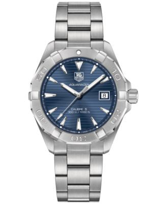 TAG Heuer Men's Swiss Aquaracer Calibre 5 Stainless Steel Bracelet Watch 41mm WAY2112.BA0928
