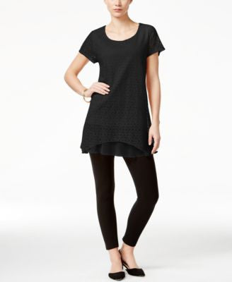 Style & Co. Lace Handkerchief-Hem Top, Only at Vogily