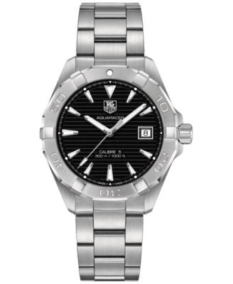 TAG Heuer Men's Swiss Aquaracer Calibre 5 Stainless Steel Bracelet Watch 41mm WAY2110.BA0928