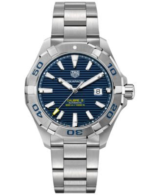 TAG Heuer Men's Swiss Aquaracer Calibre 5 Stainless Steel Bracelet Watch 43mm WAY2012.BA0927