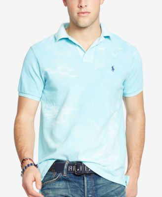 Polo Ralph Lauren Men's Custom-Fit Printed Polo