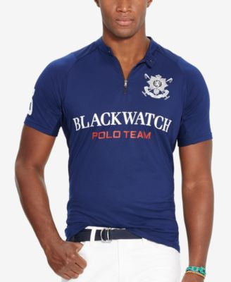 Polo Ralph Lauren Men's Black Watch Stretch-Jersey Shirt