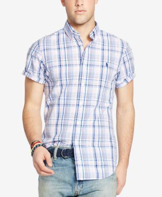 Polo Ralph Lauren Men's Plaid Short Sleeve Shirt