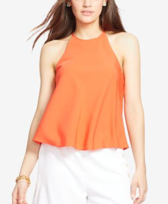 Lauren Ralph Lauren Sleeveless Crepe Top