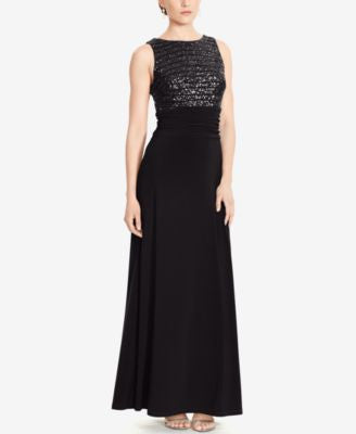 Lauren Ralph Lauren Sequined Jersey Dress
