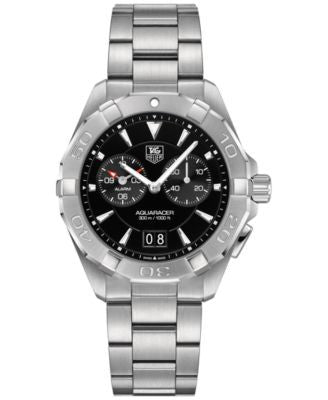 TAG Heuer Men's Swiss Chronograph Aquaracer Alarm Stainless Steel Bracelet Watch 41mm WAY111Z.BA0928