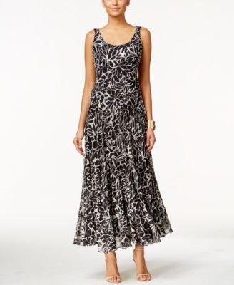 Nine West Tiered Printed Maxi Dress