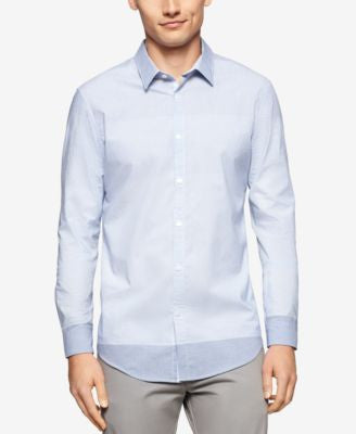 Calvin Klein Men's Colorblocked Check Long-Sleeve Shirt