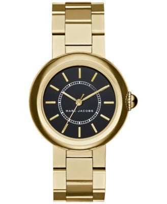 Marc Jacobs Women's Courtney Gold-Tone Stainless Steel Bracelet Watch 34mm MJ3468