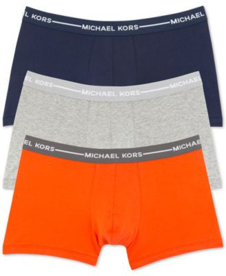 Michael Kors Men's Ultimate Cotton Stretch Trunks, 3-Pack