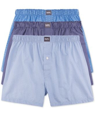 Michael Kors Men's Woven Boxers, 3-Pack