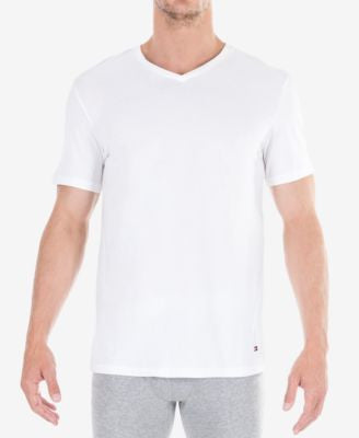 Tommy Hilfiger Men's Classic V Neck T-Shirts 3-Pack - 09TVN01
