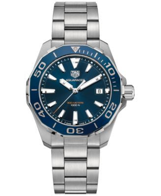 TAG Heuer Men's Swiss Aquaracer Stainless Steel Bracelet Watch 41mm WAY111C.BA0928