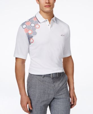 Greg Norman for Tasso Elba Men's Hex-Print Golf Polo
