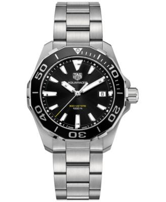TAG Heuer Men's Swiss Aquaracer Stainless Steel Bracelet Watch 41mm WAY111A.BA0928