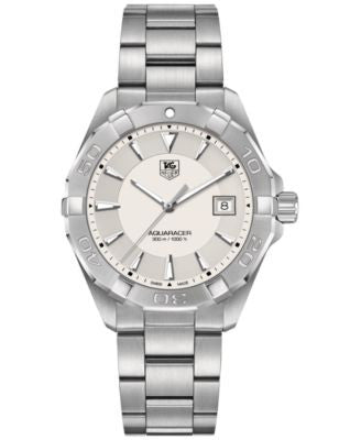 TAG Heuer Men's Swiss Aquaracer Stainless Steel Bracelet Watch 41mm WAY1111.BA0928