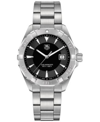 TAG Heuer Men's Swiss Aquaracer Stainless Steel Bracelet Watch 41mm WAY1110.BA0928