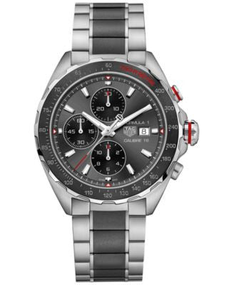 TAG Heuer Men's Swiss Chronograph Formula 1 Calibre 16 Two-Tone Stainless Steel and Ceramic Bracelet