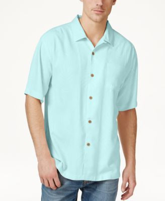 Tommy Bahama Big and Tall Men's Tiki Palms Silk Short-Sleeve Shirt, A Vogily Exclusive