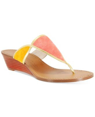 Nina Origianals Virginia Wedge Thong Sandals