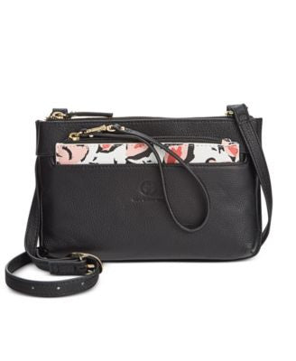 Giani Bernini Floral Print 2-in-1 Small Leather Crossbody, Only at Vogily