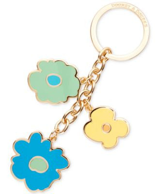 Dooney & Bourke Somerset Floral Charm Key Fob