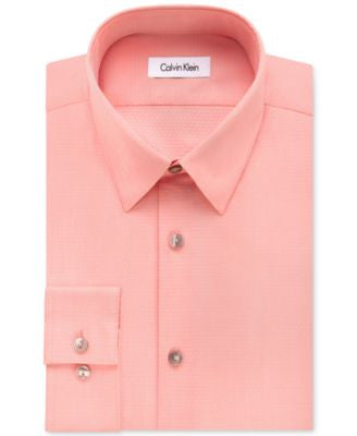 Calvin Klein Men's Fitted Infinite-Stretch Dot-Pattern Dress Shirt