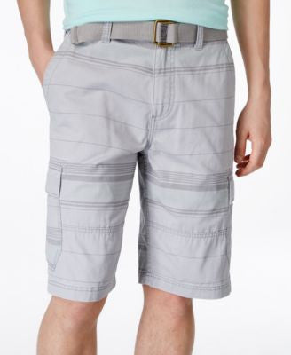 American Rag Men's Belted Stripe Cargo Shorts, Only at Vogily