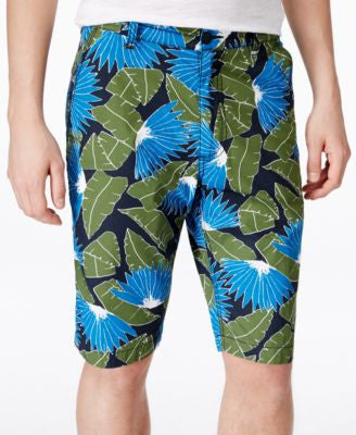 American Rag Men's Tropical-Print Flat-Front Shorts, Only at Vogily
