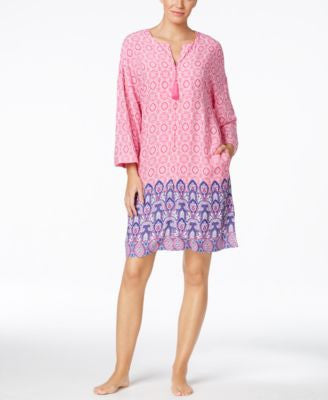 Charter Club Printed Short Caftan, Only at Vogily