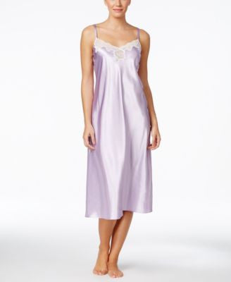 Morgan Taylor Lace-Trim Satin Nightgown, Only at Vogily
