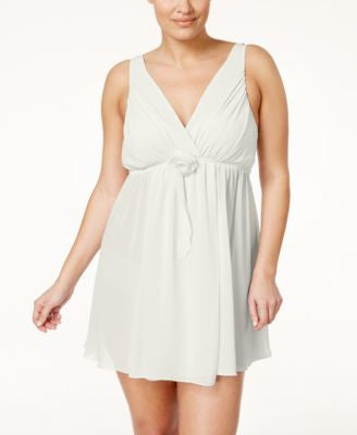 Flora by Flora Nikrooz Plus Size Chiffon Rose Accent Chemise