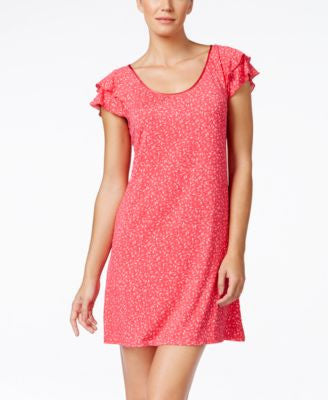 Alfani Flutter-Sleeve Printed Nightgown, Only at Vogily